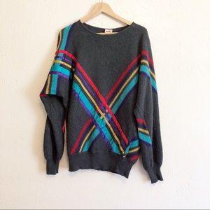Mondi Vintage Striped Mohair Sweater